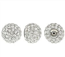 925 Sterling Silver 10mm Crystal Ball Post Earring Back 1pc  #5229-10