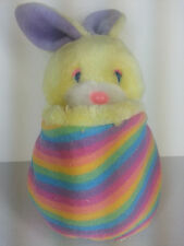 "Yellow Easter Bunny Rabbit Plush Toy Fakie Knock Off 17"" Popples Vtg"