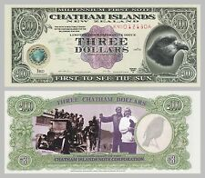 Chatham-Inseln / Chatham Islands 3 Dollars 1999 Polymer unc