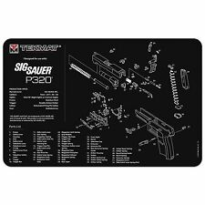 SIG SAUER P320 9mm 40 S&W PISTOL GUN CLEANING GUNSMITH BENCH OR MOUSE MAT TEKMAT