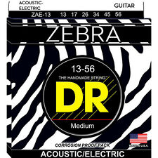 DR Strings ZAE-13 Zebra Medium Heavy Acoustic-Electric Guitar Strings (13-56)