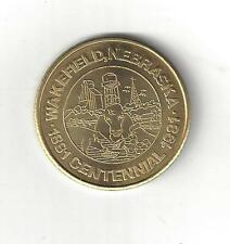 1981 WAKEFIELD NEBRASKA CENTENNIAL BRASS GOOD FOR 50 CENTS HALF DOLLAR COIN