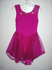 Girls Gymnastics-Dance-Tumbling-Ice Skating Skate Costume-Net Skirt-Dress-M-8-10