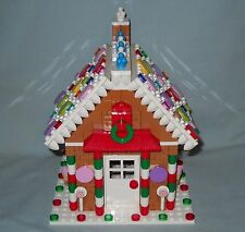 NEW LARGE CUSTOM LEGO CHRISTMAS GINGERBREAD HOUSE ON 16 X 16 STUD BASE