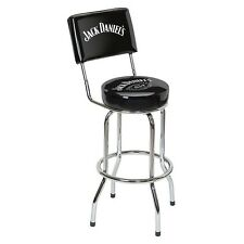 Jack Daniels Label Bar Stool with Backrest