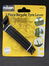 Rolson Tyre Lever 3 Piece Bicycle Cycle Bike Tyre Puncture Repair Lever