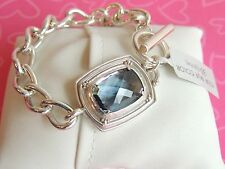 Brighton Bracelet Peaceful Crystals Silver link Chain Retail 64.00 NWT