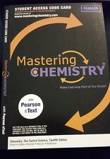 "Mastering Chemistry Access Code to ""Brown Lemay"" 12e or 13e 12th or 13th Central"