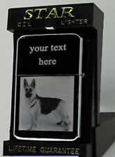 GERMAN SHEPHERD DOG PHOTO / TEXT ENGRAVED LIGHTER GIFT