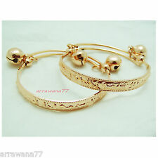 Pink Gold 22K 23K Thai Baht Gold GP Jewelry Baby Set Anklet Bell 08