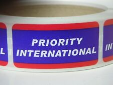 PRIORITY INTERNATIONAL USPS Stickers Labels Mailing Shipping 250/rl