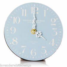Vintage Style 14 cm Blue Table Clock White  Numerals William Sutton London