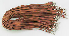 Wholesale brown Necklace suede leather Cords 20inch 10pcs hot