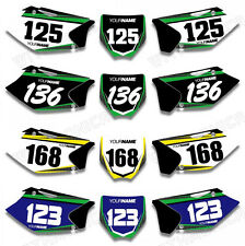 Custom Backgrounds Number Plate Graphics Decals 4 Kawasaki KXF250 KX250F 2004 05