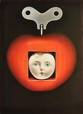 Sam Haskins Photo Art Poster 1972, limited Edition 35x48 Surrealismus Apple Doll