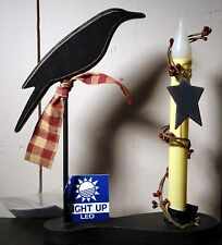 Crow and Candle Light-up Led Table Decor