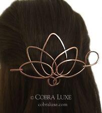 Lotus Hair Barrette Copper Long Hair Clip Metal Hair Stick Lotus Hair Accessory