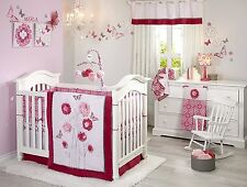 NoJo Butterfly Bouquet 4 Piece Crib Bedding Set Newborn Baby Girl Gift