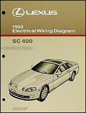 1992 Lexus SC 400 Electrical Wiring Diagram Manual Original SC400 Shop Schematic