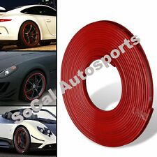 CAR AUTO SUV WHEEL RIMS PROTECTOR TIRE GUARD LINE RUBBER MOULDING TRIM RED