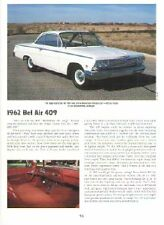 1962 Chevy Bel Air 409 Article - Must See !!