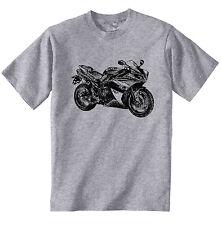YAMAHA ispirato r1-Nuovo T-Shirt grigio Cotone-Tutte le taglie in magazzino