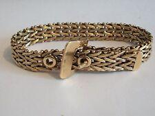 Fine 9ct / 9k 375 gold heavy belt buckle bracelet