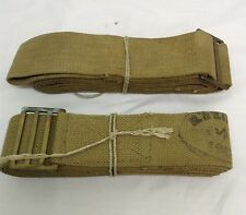 WW2 British army webbing stretch straps Wartime dated PAIR