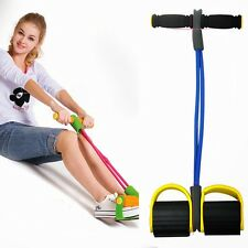 New Pedal Resistance Bands Slimming Fitness Wall Pulley Yoga Rope Latex Home Gym