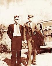 BONNIE AND CLYDE PHOTO CLYDE BARROW WD JONES GANGSTERS CRIMINALS GANG #20962