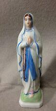 Ancienne STATUE SAINTE VIERGE MARIE en porcelaine France de Villenauxe Haut.13,5