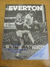 11/08/1979 Everton v Roda Kerkrade [Friendly] (folded). Bobfrankandelvis the sel