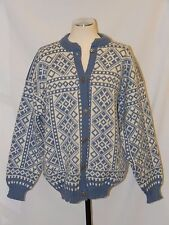 Great! VOSS NORWAY NORWEGIAN WOOL SILVER BUTTON nordic CARDIGAN SKI SWEATER 40 S