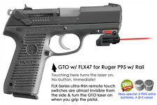 ArmaLaser GTO for Ruger P95 w/ a Rail RED Laser Sight w/ FLX47 Grip Touch On/Off