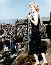 """Marilyn Monroe Performing for Troops in the USO in Korea 8""""x 10"""" Photo 48"""