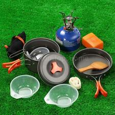 Outdoor Camping Cookware with Piezoelectric Ignition Stove Pot Stove Set S2J2