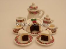 DOLLS House cibo: Tea & panelli di Natale per due-Da Ros