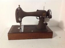 Montgomery Ward Sewing Machine Model R + Manual, Case, Pedal, Cord & Attachments