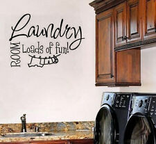 The Laundry Room Loads Of Fun Wall Art Sticker Vinyl Decal Washing Place Decor