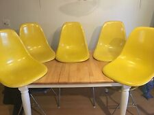 Herman Miller Charles Eames Fiberglass side Shell chairs Yellow project chairs 5