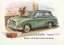 Gutbrod Superior 1953-54 Original GERMAN Sales Brochure Viersitzer 600 700