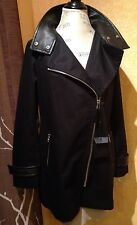 NWT Mackage Zandra coat, jacket blazer, Rain Coat, Size Large  L color black 650