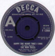 """NEW FACES ~ HAPPY THE HEART THAT I OWN / THERE IS AN ISLAND ~ 1969 UK """"DEMO"""" 7"""""""