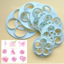 Rose flower cutter 6 pcs set. different size for fondant. Cortador de Rosa