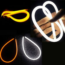 2x30cm DC 12V DRL LED Strip White Amber Tube Switchback Headlight For Audi Style