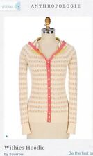 SPARROW Anthropologie Floral Hooded Withies Cardigan Knit Sweater XS GLEE $98