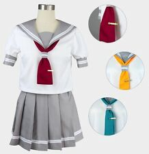 Love live Sunshine Aquors Summer Sailor Uniform Cosplay Costume Japanese Seifuku