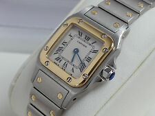 Classic Mint CARTIER SANTOS GALBEE Ladies 18k Gold SS 1567 W20012C4 No Date 24mm