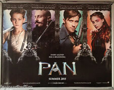 Cinema Poster: PAN 2015 (Faces Quad) Hugh Jackman Garrett Hedlund Rooney Mara