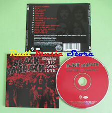 CD BLACK SABBATH Greatest hits 1970 1978 2006 usa RHINO 73365 (Xs1) no lp mc dvd